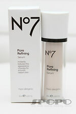 New BOOTS No7 Pore Refining Hypo-Allergenic Serum 30ml 100% Authentic