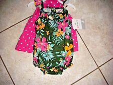 Carter's baby 9 months romper dress clothes lot of 2 girls spring summer green