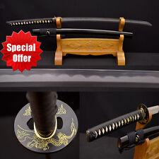 Japanese Samurai Sword KO KATANA 1095+Damascus Steel Kobuse Blade Real Hamon New