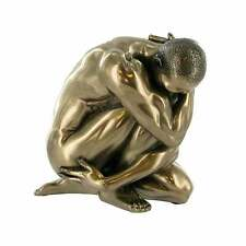 """OLIVER"" COLD CAST BRONZE NUDE MALE SCULPTURE FIGURE EROTIC ART NEW & BOXED"