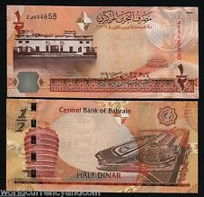 BAHRAIN 1/2 DINAR P25 2007 F1 GRAND PRIX COURT UNC CURRENCY MONEY BILL BANKNOTE