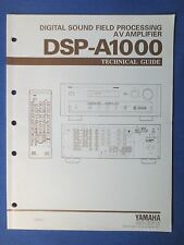 YAMAHA DSP-A1000 PROCESSOR TECHNICAL GUIDE  MANUAL FACTORY ORIGINAL REAL THING