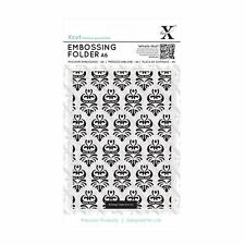 XCUT A6 Embossing Folder Damask Pattern Black XCU 515143