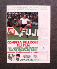 I889-Advertising Pubblicità - 1984 - PELLICOLE FUJI E RUMMENIGGE