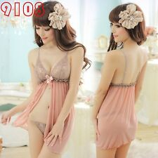 New Sexy Lingerie Hot Dress Babydoll Nightwear Night Gown wear Sweet Love U9108