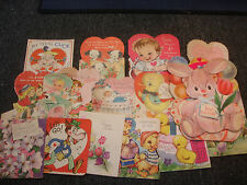 Old Vtg Easter Valentines Day Greeting Decorative Cards Holiday LOT of 18