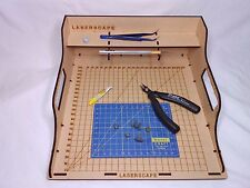 Laserscape Desk Paint Station - Medium 28cm MDF Wargaming Tray