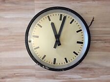 IBM Industrial Modernist Wall Medium Clock Bauhaus Vintage old