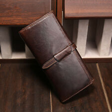 New Women Genuine Leather Bifold Long Wallet Money Purse Card Holder Clutch Bag