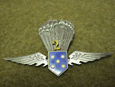 PORTUGAL PRE 1974 YOUTH AIRBORNE PARATROOPER 2 JUMP AWARD BADGE WINGS INSIGNIA