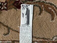 k1-4 ephemera 1966 wedding picture linda head john darwell ramsgate