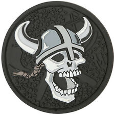 PVC Morale Patch MAXPEDITION - VIKING WARRIOR SKULL Circle - SWAT colors