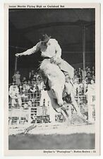 JUNIOR MARTIN Rodeo COWBOY Western PC Postcard STYKER Carlsbad Bat HORSE West
