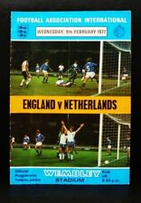 OFFICIAL FOOTBALL PROGRAMME ENGLAND V NETHERLANDS 1977