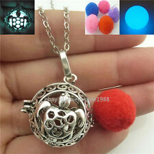 Vintage Glow in the Dark Essential Oil Diffuser Tortoise Turtle Locket Necklace