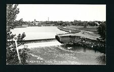 Windom Minnesota MN 1940s RPPC Dam & Town, BASEBALL GAME Being Played on Right!
