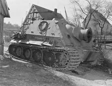 WWII B&W Photo German Sturmtiger Abandoned  WW2 / 4082