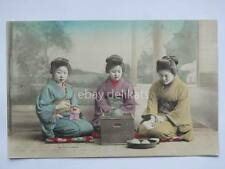 JAPAN Nippon 日本国 geisha tea te the old postcard