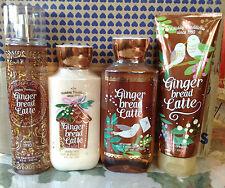 BATH & BODY WORKS GINGER BREAD LATTE FRAGRANCE MIST SHEA CREAM LOTION SHOWER GEL