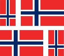 Set of 4x sticker vinyl car bumper decal outdoor car moto world flag norway