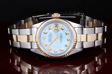 Rolex Steel & Yellow Gold Ladies Datejust 6917 with Blue MOP Diamond Dial