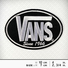 VANS Embroidered iron on patch Rock band DIY Decorate Hobby Skate Extreme Sport