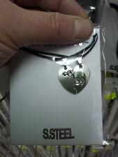 2 ciondoli cuore love innamorati acciaio still  piu 2 collane nacklace