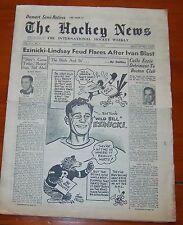 The Hockey News December 1 1951 Ezinicki - Lindsay fued