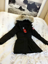 "BRAND NEW ""BLACK"" (RED LABEL) CANADA GOOSE TRILLIUM MEDIUM ARCTIC PARKA JACKET"