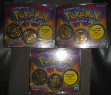 HASBRO Gettoni POKEMON Coin 3 Different Set, Sealed, M.O.C., New Pokémon