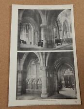 Antique Architects Print St Philips Church Stepney The Builder 1890