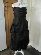 BNWT MONSOON DARYL DRESS SIZE 14 BLACK AS SEEN IN VOGUE