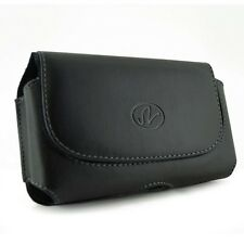 Black Leather Clip Pouch Horizontal Carrying Case For iPhone 5S 5C 5 SE w/ case