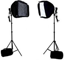 "Photo / Video 24"" Speedlite Flash Softbox grids L-Bracket Shoe Mount stand kit"