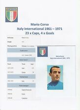 MARIO CORSO ITALY INT 1961-1971 ORIGINAL HAND SIGNED F.K.S. STICKER (USED)