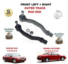 FOR HONDA ACCORD + ROVER 600  FRONT LEFT + RIGHT OUTER TRACK ROD END SET