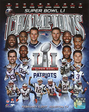 New England Patriots 2016-2017 Super Bowl 51 Champions 8X10 Team Composite Photo