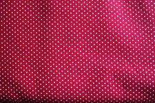 #F122 Polka Dots  BTFQ Quilt Cotton Fabric  FAT QUARTER Red Mini
