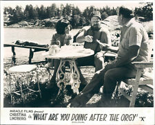 What Are You Doing After The Orgy Dog Days Lobby Card Christina Lindberg 1970