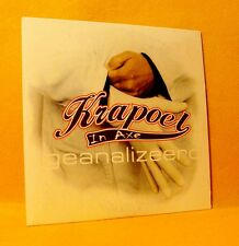 Cardsleeve single CD Krapoel In Axe Geanalizeerd 2TR 2001 Hip Hop Pop Rap K.I.A.