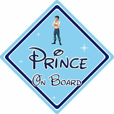 Disney Prince On Board Car Sign – Baby On Board – Little Mermaid Prince Eric