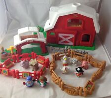 Fisher Price Little People Farm Yard House And Barn With Animals And Accessories