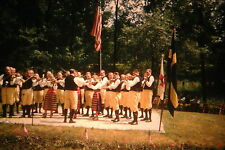 KODACHROME Red Border 35mm Slide Orchestra Playing In Park Violins 1950s L@@K!!!