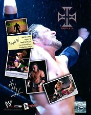 WWE PHOTO TRIPLE H WRESTLING GLOSSY PROMO HHH DX RAW CEO WWF scrapbook
