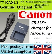 Original CANON Charger,CB-2LXE,NB-5L IXUS 960 950 900Ti 870 860 850 830 800 iS