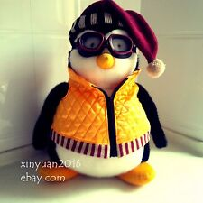 """RARE 18"""" HARD TO FIND HUGGSY PENGUIN WITH GOGGLES FRIENDS Joey's hugsy"""