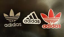 "(3) ADIDAS PATCH  Lot Logo PATCHES embroidered iron on  patch 2"" x 2"" ,1.5X 1.75"