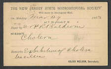 1893 PC NEW BRUNSWICK NJ STATE MICROSCOPIC SOCIETY MEETING ON  UX10 POSTED
