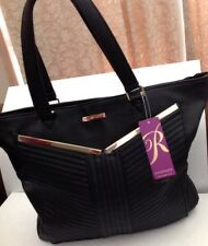 Rampage Extraordinary Pleated Satchel Bag In Black Color Brand New With Tag!!!!
