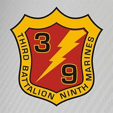 USMC 3rd Battalion 9th Marines Insignia Military Graphics Decal Sticker Car